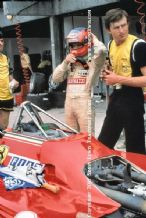 Gilles Villeneuve. Photo. Stood by Ferrari 126C Turbo . Brazil GP pits 1982